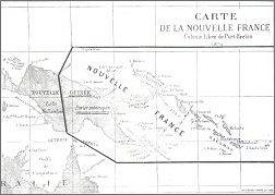 Ta mapa miała zachęcać do inwestowania w nieistniejącą kolonię Nowa Francja