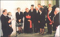 Otwarcie wystawy z okazji 70-lecia Senatu w Polsce odrodzonej (28.11.1992 r.)
