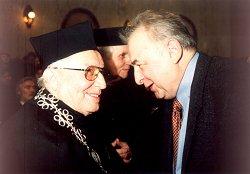 Tadeusz Różewicz i Tadeusz Kijonka