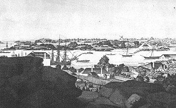Port w Sydney widziany od zachodu.