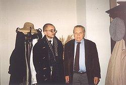 Czesław Miłosz z autorem artykułu